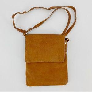 Vera Pelle brown crossbody leather small purse
